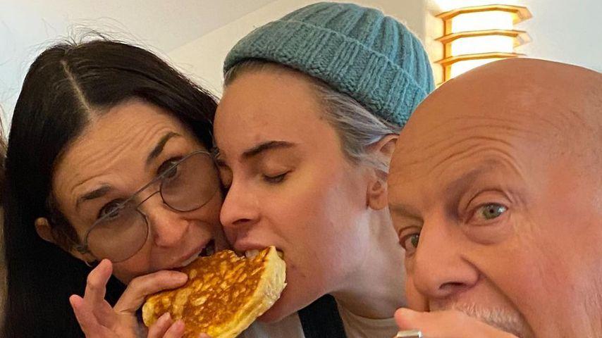 Demi Moore mit Tochter Tallulah und Ex-Mann Bruce Willis im November 2020