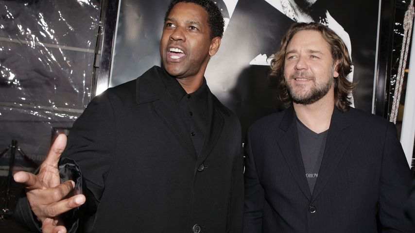 Denzel Washington und Russell Crowe, 2007