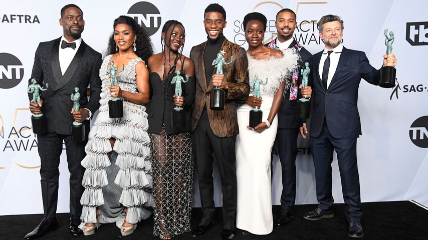 "Der ""Black Panther""-Cast bei den Screen Actors Guild Awards im Januar 2019"