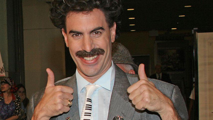 """Der britische Schauspieler Sacha Baron Cohen als """"Borat"""""""