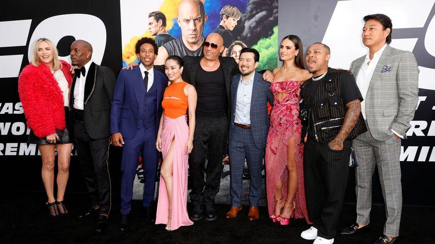 """Der Cast von """"Fast & Furious 9"""" auf der Filmpremiere im Juni 2021"""