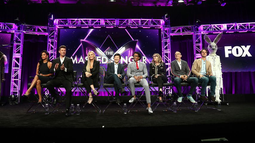 """Der Cast von """"The Masked Singer"""" bei einer Pressekonferenz"""