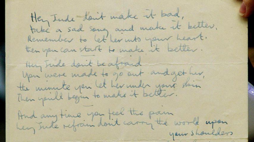 """Der Song """"Hey Jude"""" von den Beatles und geschrieben von Paul McCartney"""