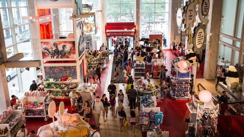 Der Spielzeugladen FAO Schwarz von oben