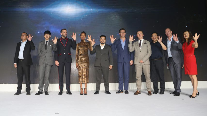 "Der Cast von ""Star Trek"" in der Indigo Mall in Beijing"
