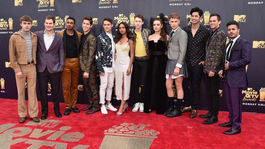 """Der """"Tote Mädchen lügen nicht""""-Cast, 2018 bei den MTV Movie Awards"""
