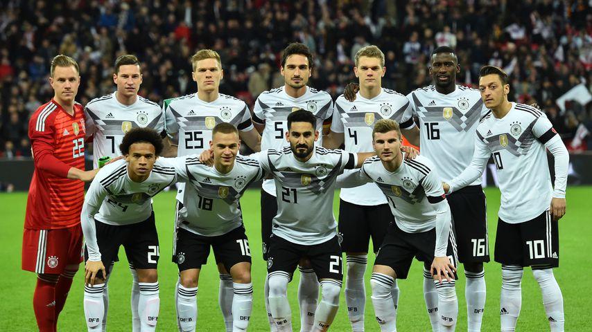 Die Deutsche Nationalmannschaft beim Freundschaftsspiel gegen England 2017