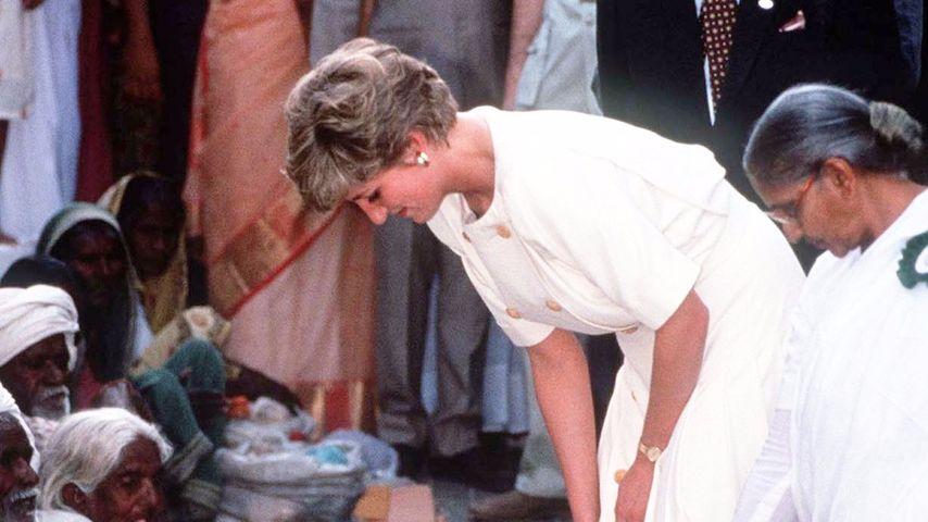 Prinzessin Diana auf einer Indien-Reise