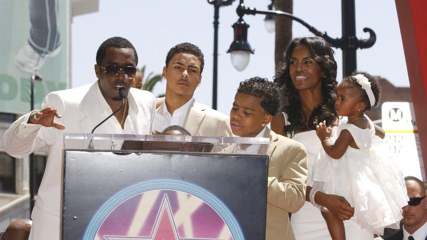 Diddy und Kim Porter mit ihren Kindern