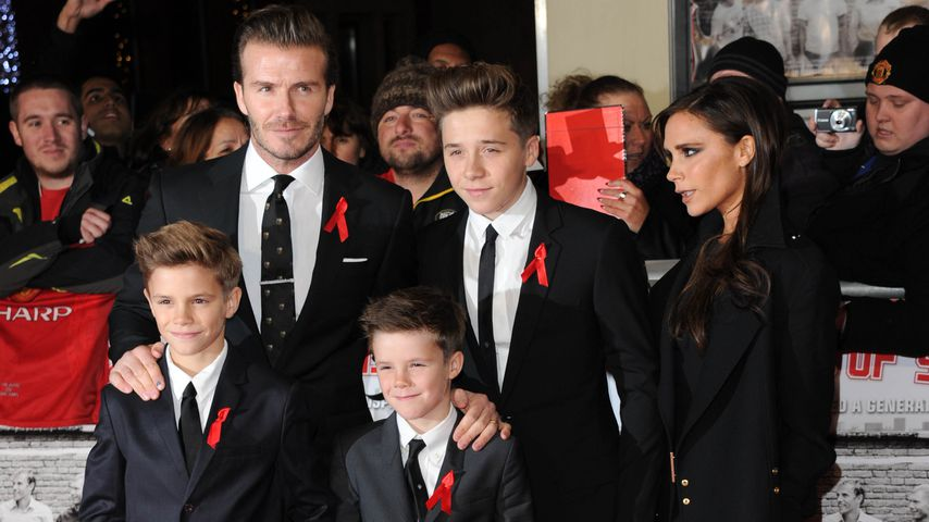 "Die Beckham-Family bei der Weltpremiere von ""The Class of 92"" in London"