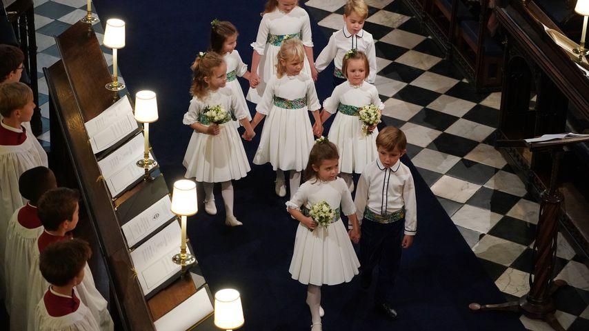 Theodora Rose Williams (v.l.) bei Prinzessin Eugenies Hochzeit