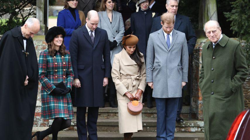 Die britische Königsfamilie am 25. Dezember 2017