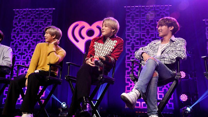 Die BTS-Mitglieder RM, Jimin und J-Hope, 2020