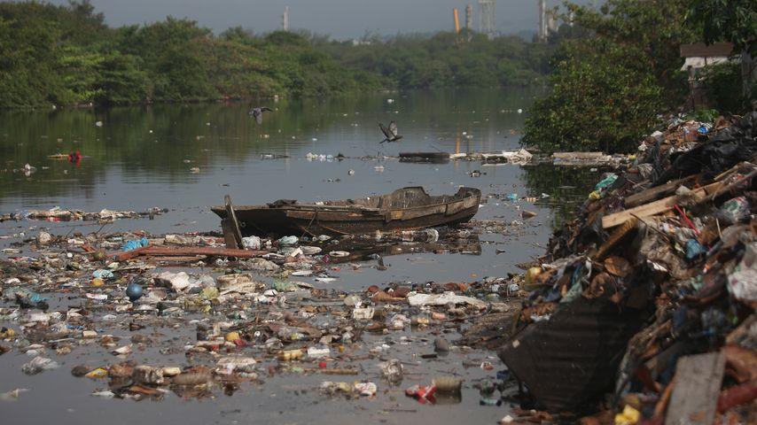 Die Bucht von Guanabara im Juli 2015