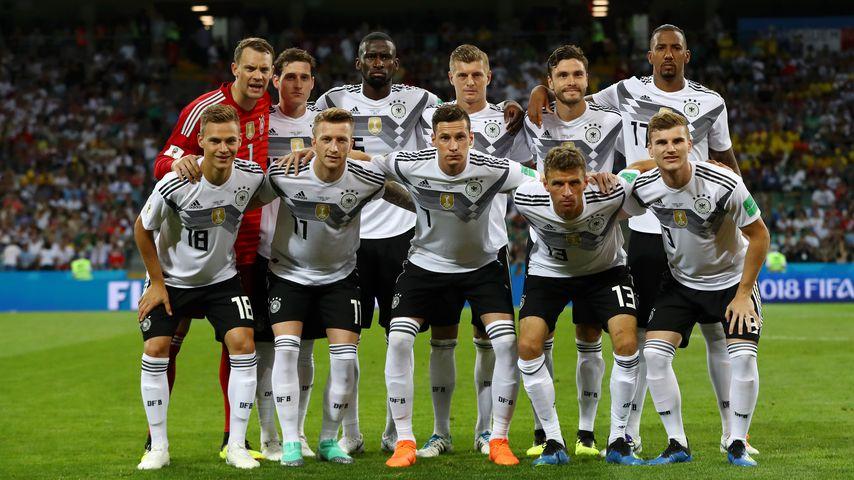 Die deutsche Nationalmannschaft vor dem WM-Vorrundenspiel gegen Schweden