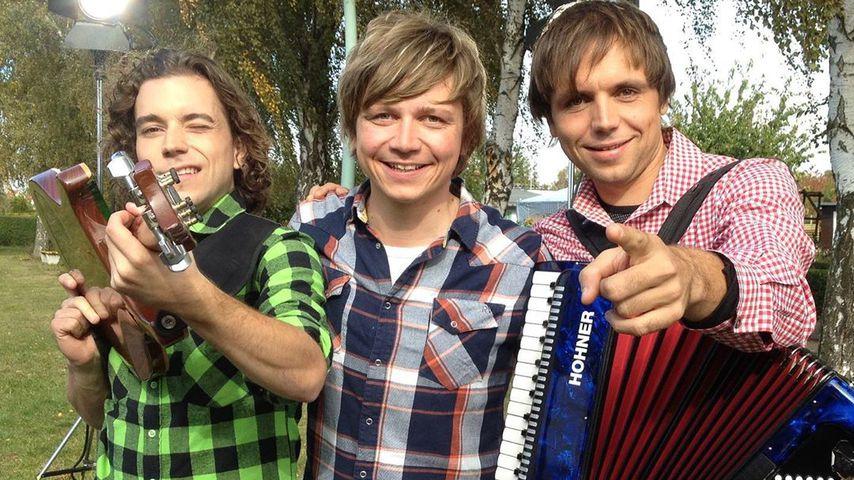 Die drei Brüder Philipp, Tobias und Markus Thomann der Band Dorfrocker im Mai 2020