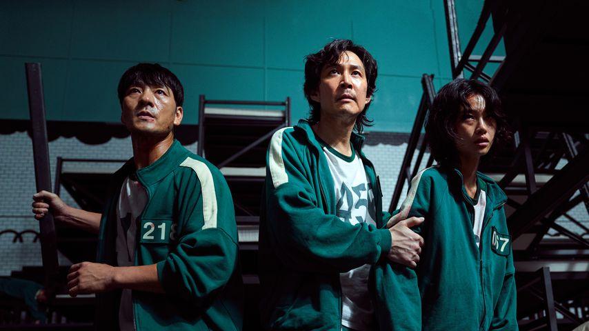 """Die drei """"Squid Game""""-Darsteller Park Hae-soo, Jung Ho-yeon und Lee Jung-jae"""