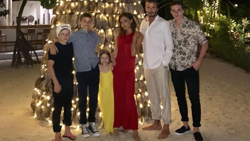 Die Familie Beckham an Silvester 2016