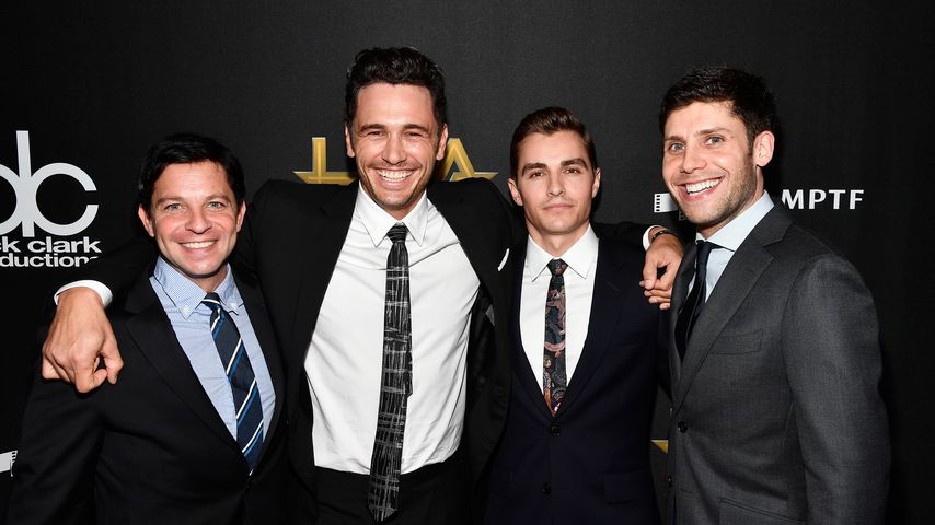 Scott Neustadter, James und David Franco mit Michael H. Weber bei den 21. Hollywood Film Awards