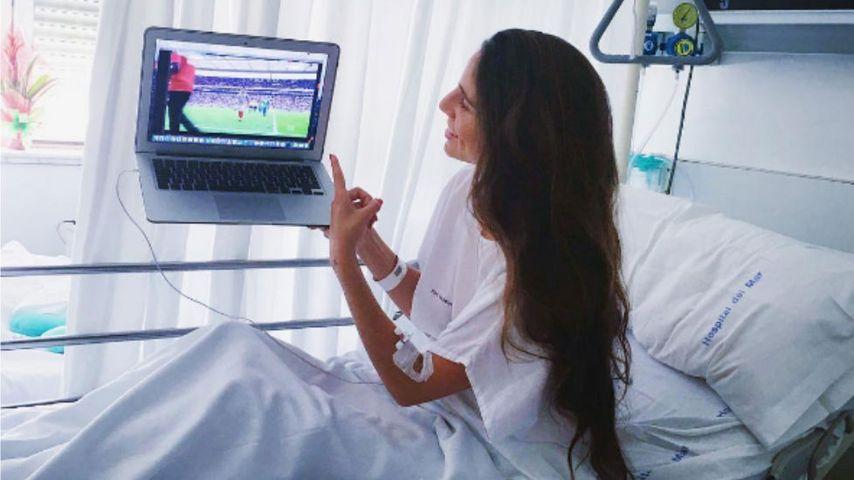 Lucia Villalon, die Freundin von Fußball-Star Chicharito, im Krankenhaus