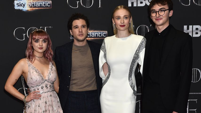 "Die ""Game of Thrones""-Stars Maisie Williams, Kit Harington, Sophie Turner und Isaac Hempstead-Wright"