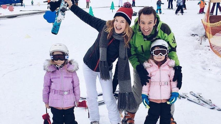 Eva und Peter Imhof mit ihren Zwillingen