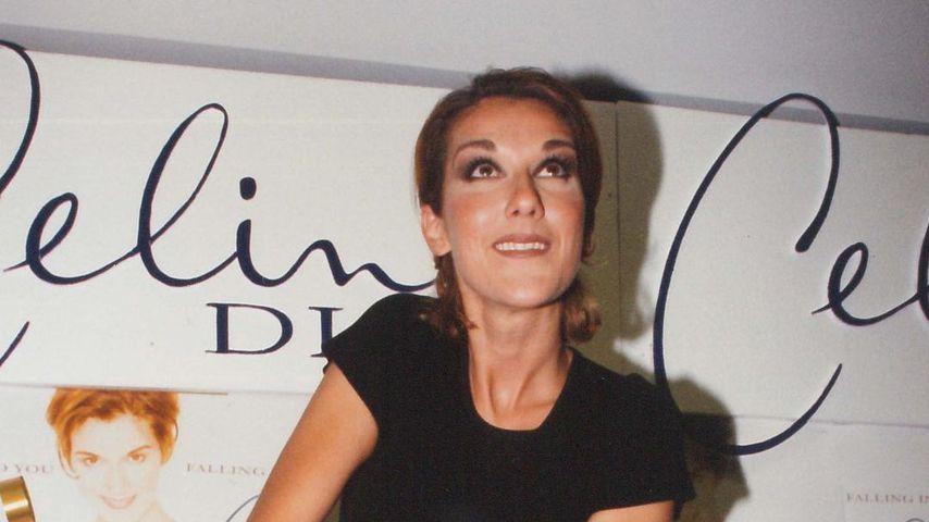 Die junge Céline Dion und ihr Geburtstagkuchen
