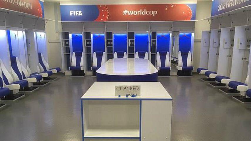 Die Kabine der japanischen Nationalmannschaft nach ihrem WM-Exit
