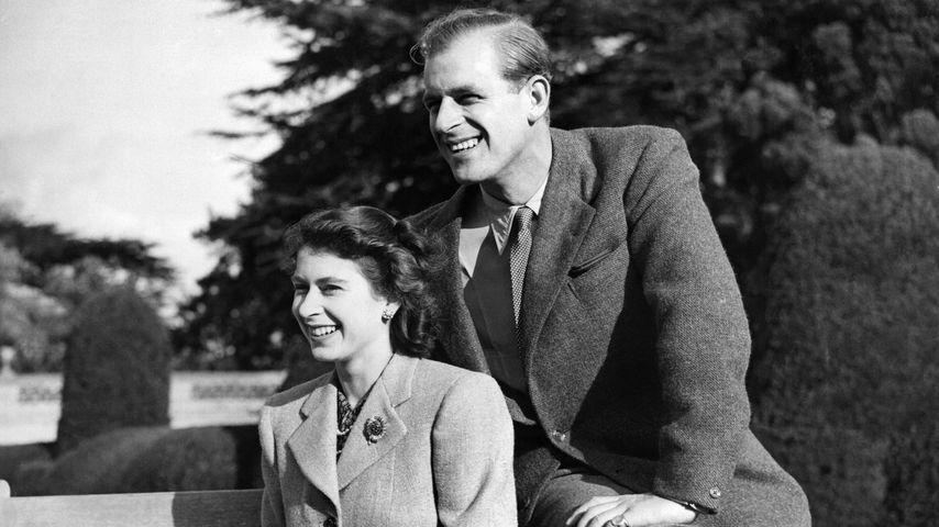 Queen Elizabeth II. und Prinz Philip in ihren Flitterwochen, 1947