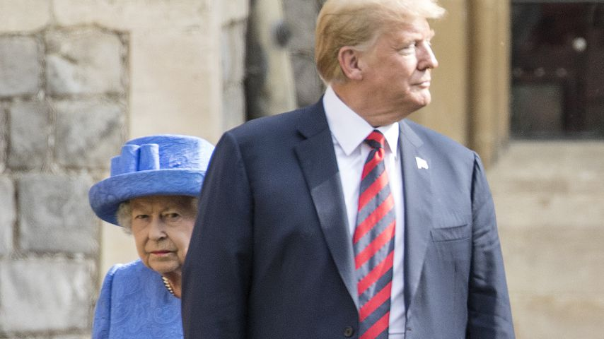 Fauxpas beim Queen-Treffen: Trump kam nicht nur zu spät!