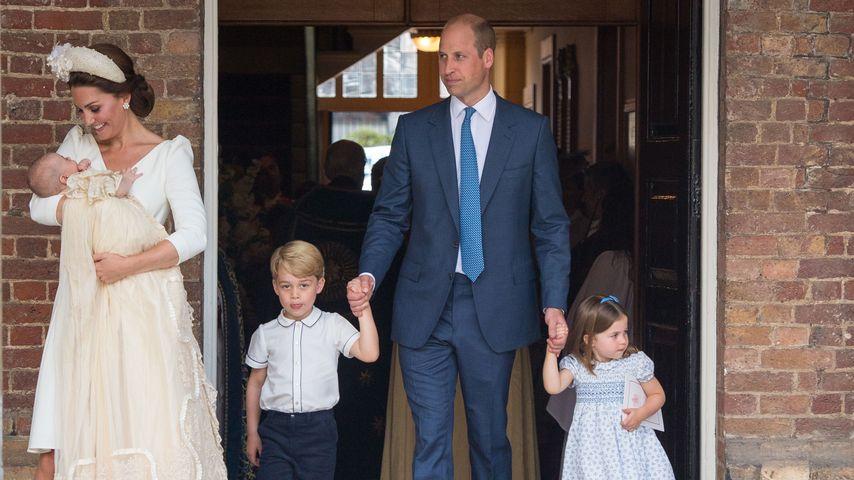 Die royale Familie bei der Taufe von Prinz Louis, Juli 2018