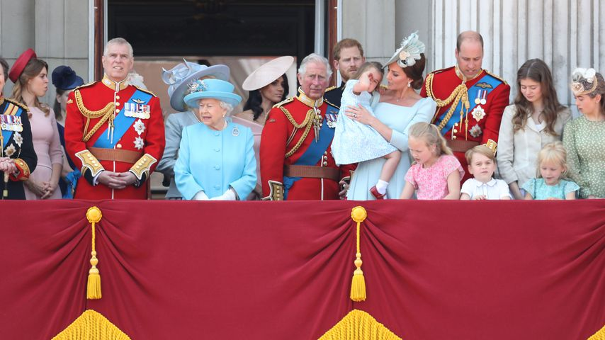 Die royale Familie bei Trooping the Colour 2018