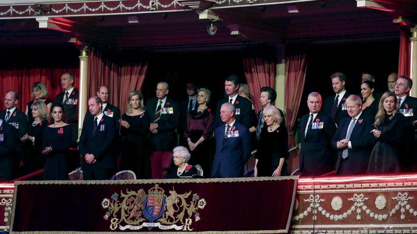 Die Royal Family am 9. November 2019 in London