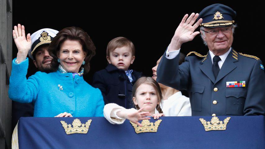 Die schwedische Königsfamilie am Geburtstag von König Carl Gustaf