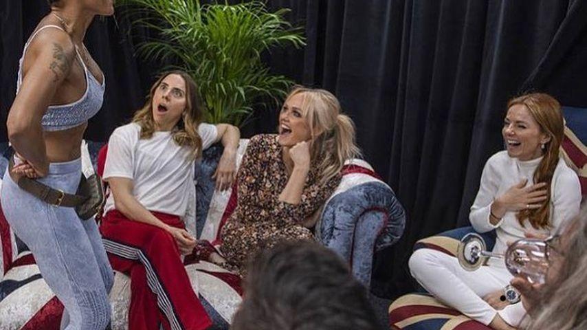 Die Spice Girls backstage im Wembley-Stadion