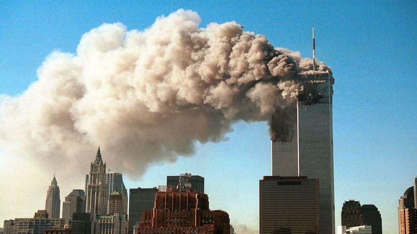 Die Türme des World Trade Centers nach den Anschlägen am 11. September