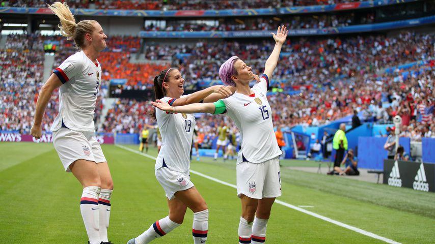 Die US-Frauen beim Torjubel im WM-Finale
