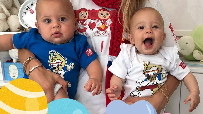 Die Zwillinge von Enrique Iglesias und Anna Kournikova