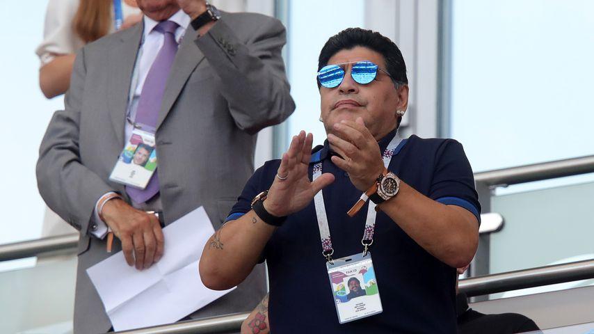 Diego Maradona bei einem WM-Spiel