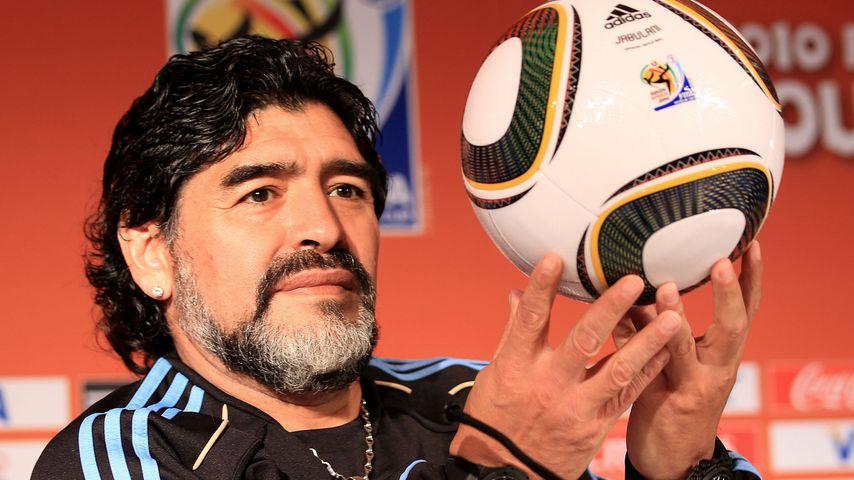Diego Maradona im Juni 2010