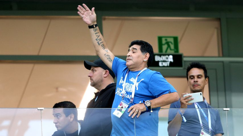 Diego Maradona bei der WM 2018