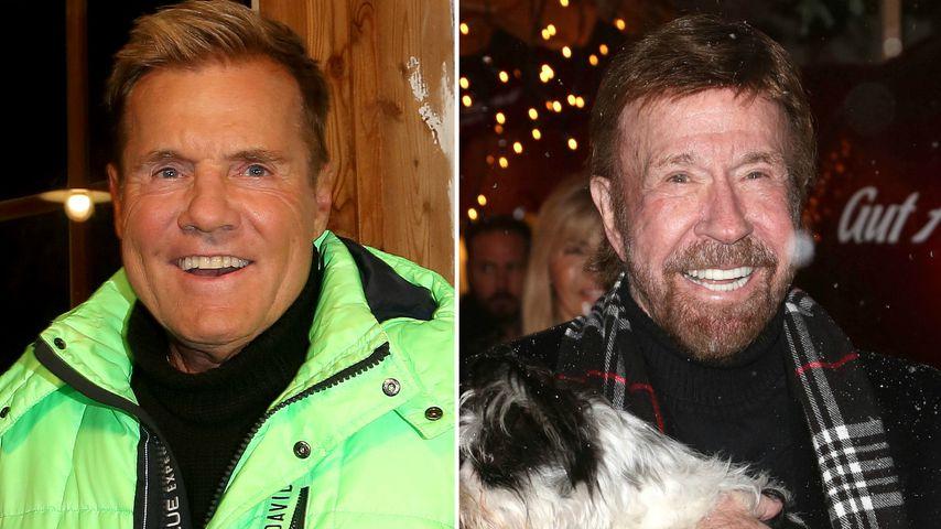 Dieter Bohlen und Chuck Norris eröffnen VIP-Weihnachtsmarkt