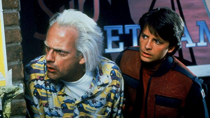 """Doc Brown (Christopher Lloyd) und Marty McFly (Michael J. Fox) in """"Zurück in die Zukunft"""""""