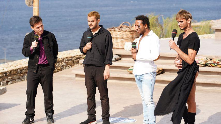 """Dominic Möws, Shada Ali, Kilian Imwinkelried und Steve Maco bei """"Deutschland sucht den Superstar"""""""