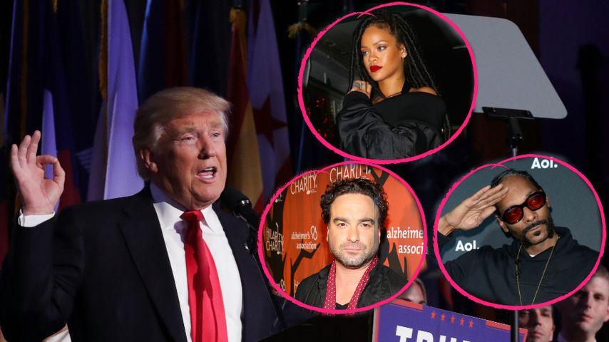 Präsident Donald Trump: US-Promis entsetzt & fassunglos!
