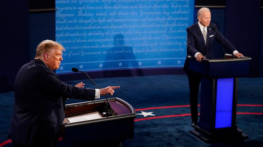 Donald Trump und Joe Biden bei der ersten Präsidentschaftsdebatte 2020
