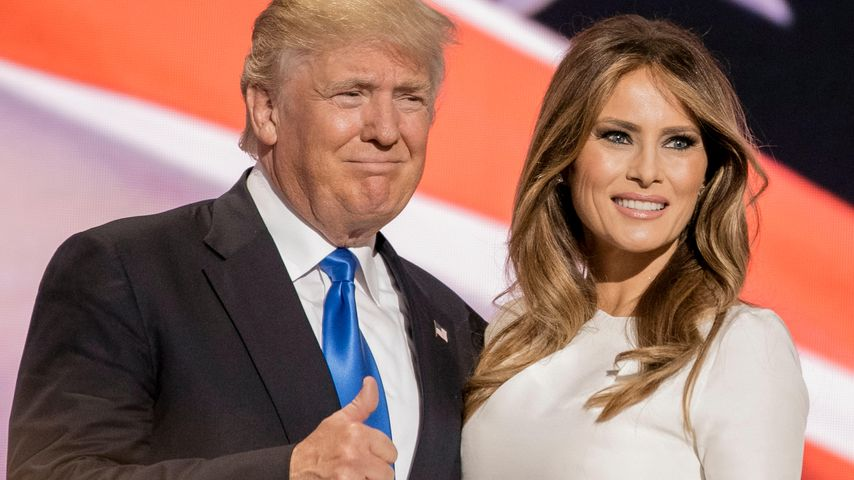 Donald Trump und Melania Trump beim Nominierungsparteitag der Republikaner in Cleveland