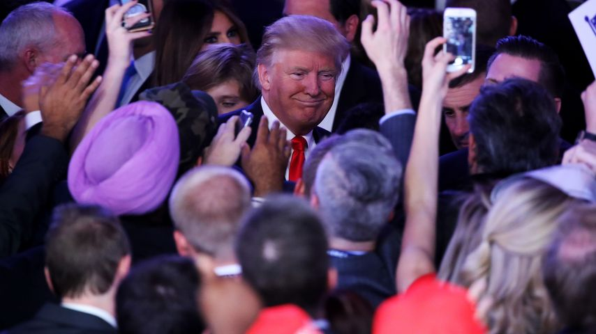 Donald Trump bei seinem Wahlsieg am 8. November 2016