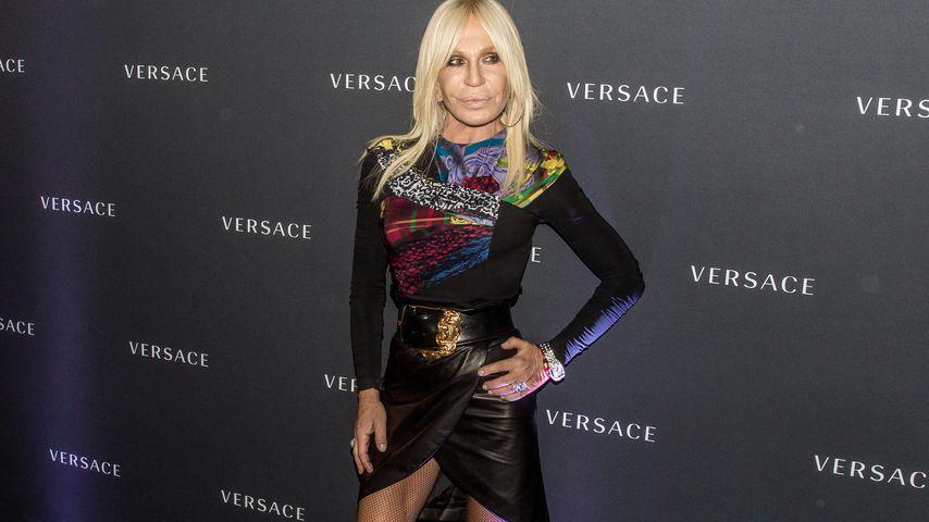 Donatella Versace bei einem Store-Opening in Berlin