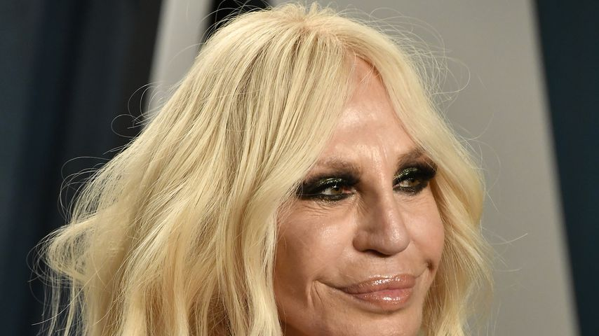 Donatella Versace im Februar 2020 bei der Vanity Fair Oscar Party in Beverly Hills